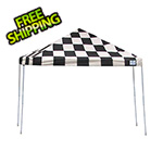 ShelterLogic 12x12 Straight Pop-up Canopy with Black Roller Bag (Checkered Flag Cover)