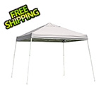 ShelterLogic 12x12 Slanted Pop-up Canopy with Black Roller Bag (White Cover)