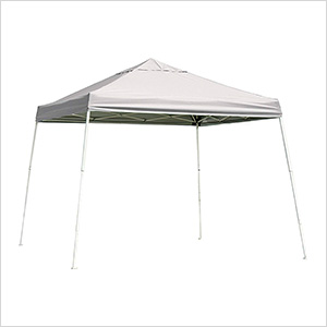 12x12 Slanted Pop-up Canopy with Black Roller Bag (White Cover)