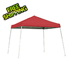 ShelterLogic 12x12 Slanted Pop-up Canopy with Black Roller Bag (Red Cover)