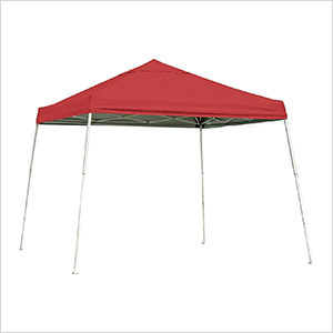 12x12 Slanted Pop-up Canopy with Black Roller Bag (Red Cover)