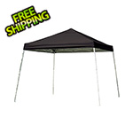 ShelterLogic 12x12 Slanted Pop-up Canopy with Black Roller Bag (Black Cover)