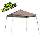 ShelterLogic 12x12 Slanted Pop-up Canopy with Black Roller Bag (Desert Bronze Cover)