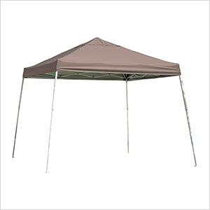 12x12 Slanted Pop-up Canopy with Black Roller Bag (Desert Bronze Cover)