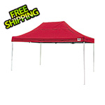 ShelterLogic 10x15 Straight Pop-up Canopy with Black Roller Bag (Red Cover)