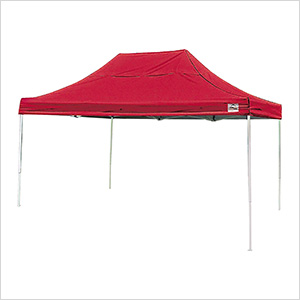 10x15 Straight Pop-up Canopy with Black Roller Bag (Red Cover)
