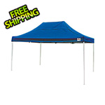 ShelterLogic 10x15 Straight Pop-up Canopy with Black Roller Bag (Blue Cover)