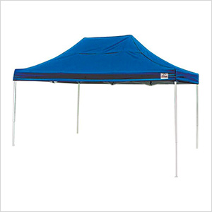10x15 Straight Pop-up Canopy with Black Roller Bag (Blue Cover)