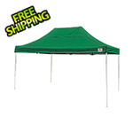 ShelterLogic 10x15 Straight Pop-up Canopy with Black Roller Bag (Green Cover)