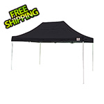 ShelterLogic 10x15 Straight Pop-up Canopy with Black Roller Bag (Black Cover)