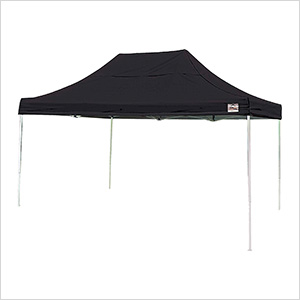 10x15 Straight Pop-up Canopy with Black Roller Bag (Black Cover)