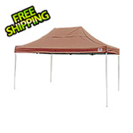 ShelterLogic 10x15 Straight Pop-up Canopy with Black Roller Bag (Desert Bronze Cover)