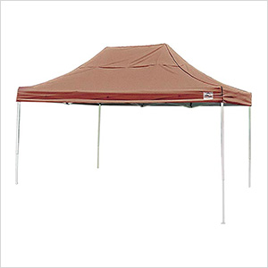 10x15 Straight Pop-up Canopy with Black Roller Bag (Desert Bronze Cover)