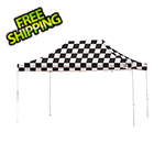 ShelterLogic 10x15 Straight Pop-up Canopy with Black Roller Bag (Checkered Flag Cover)