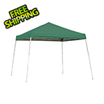 ShelterLogic 10x10 Slanted Pop-up Canopy with Black Roller Bag (Green Cover)