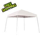 ShelterLogic 10x10 Slanted Pop-up Canopy with Black Roller Bag (White Cover)