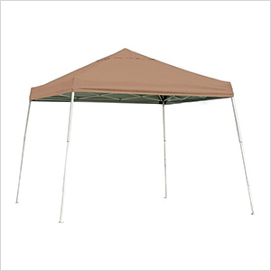 10x10 Slanted Pop-up Canopy with Black Roller Bag (Desert Bronze Cover)