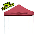 ShelterLogic 10x10 Straight Pop-up Canopy with Black Roller Bag (Red Cover)