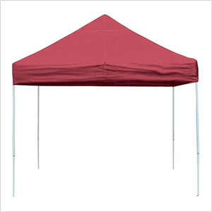 10x10 Straight Pop-up Canopy with Black Roller Bag (Red Cover)