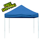 ShelterLogic 10x10 Straight Pop-up Canopy with Black Roller Bag (Blue Cover)