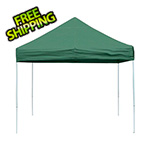 ShelterLogic 10x10 Straight Pop-up Canopy with Black Roller Bag (Green Cover)