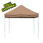 ShelterLogic 10x10 Straight Pop-up Canopy with Black Roller Bag (Desert Bronze Cover)