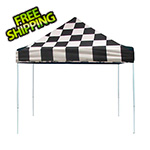 ShelterLogic 10x10 Straight Pop-up Canopy with Black Roller Bag (Checkered Flag Cover)