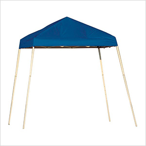 8x8 Slanted Pop-up Canopy with Black Roller Bag (Blue Cover)