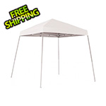 ShelterLogic 8x8 Slanted Pop-up Canopy with Black Roller Bag (White Cover)