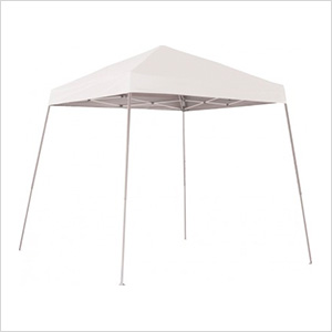 8x8 Slanted Pop-up Canopy with Black Roller Bag (White Cover)