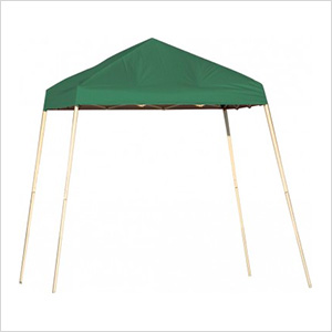 8x8 Slanted Pop-up Canopy with Black Roller Bag (Green Cover)