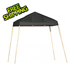 ShelterLogic 8x8 Slanted Pop-up Canopy with Black Roller Bag (Black Cover)