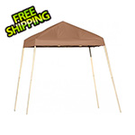 ShelterLogic 8x8 Slanted Pop-up Canopy with Black Roller Bag (Desert Bronze Cover)