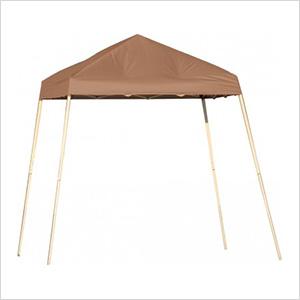 8x8 Slanted Pop-up Canopy with Black Roller Bag (Desert Bronze Cover)