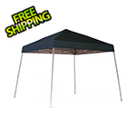 ShelterLogic 10x10 Slanted Pop-up Canopy with Black Roller Bag (Black Cover)