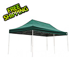 ShelterLogic 10x20 Straight Pop-up Canopy with Black Roller Bag (Green Cover)