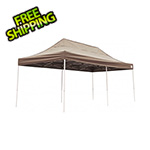 ShelterLogic 10x20 Straight Pop-up Canopy with Black Roller Bag (Desert Bronze Cover)