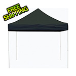 ShelterLogic 10x10 Straight Pop-up Canopy with Black Roller Bag (Black Cover)