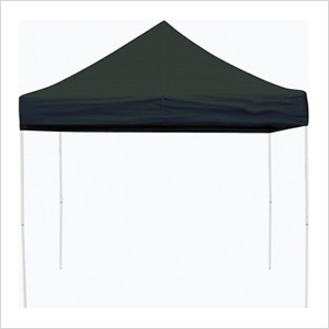 10x10 Straight Pop-up Canopy with Black Roller Bag (Black Cover)