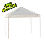 ShelterLogic 10x10 Straight Pop-up Canopy with Black Roller Bag (White Cover)