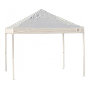10x10 Straight Pop-up Canopy with Black Roller Bag (White Cover)