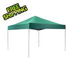 ShelterLogic 12x12 Straight Pop-up Canopy with Black Roller Bag (Green Cover)