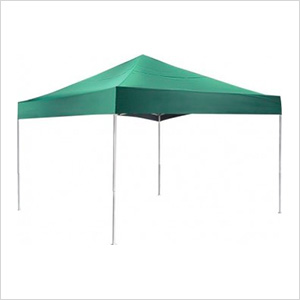 12x12 Straight Pop-up Canopy with Black Roller Bag (Green Cover)