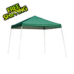 ShelterLogic 12x12 Slanted Pop-up Canopy with Black Roller Bag (Green Cover)