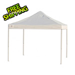 ShelterLogic 10x10 Straight Truss Top Pop-up Canopy with Black Roller Bag (White Cover)