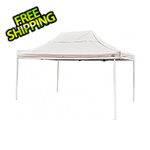 ShelterLogic 10x15 Straight Pop-up Canopy with Black Roller Bag (White Cover)