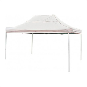 10x15 Straight Pop-up Canopy with Black Roller Bag (White Cover)
