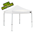 ShelterLogic 10x10 Alumi-Max Straight Pop-up Canopy with Black Roller Bag (White Cover)