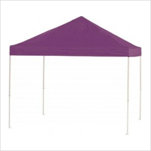 10x10 Straight Pop-up Canopy with Black Roller Bag (Purple Cover)