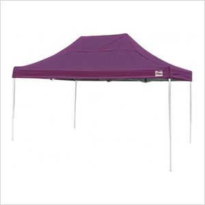 10x15 Straight Pop-up Canopy with Black Roller Bag (Purple Cover)